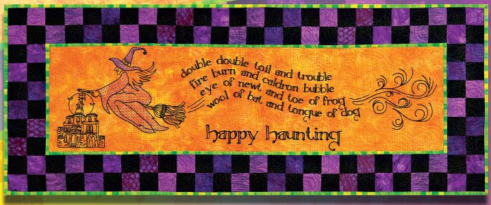 Class: Claudia's Creations – Happy Haunting – A Redwork style design for the embroidery module in Helena, MT