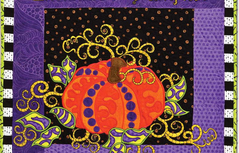 Class: Claudia's Creations – Enchanted Pumpkin – Machine Applique Designs for the Embroidery Module in Helena, MT